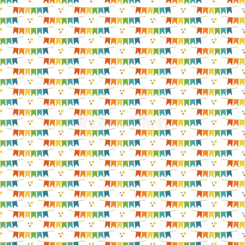 Flaggen-Fahnen-nahtloses Muster lizenzfreie abbildung
