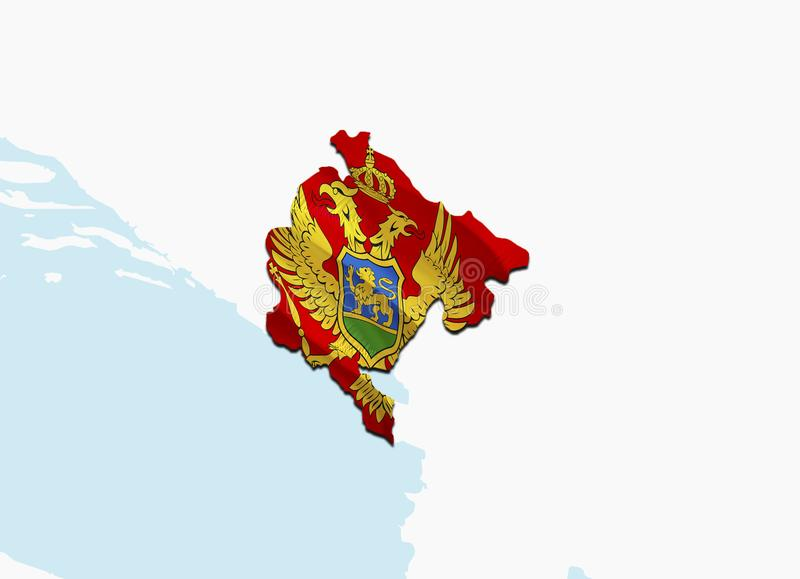 Flaggen-Karte von Ungarn 3D, das Ungarn-Karte und -flagge überträgt Das nationale Sonderzeichen von Ungarn Nationales wellenartig stock abbildung