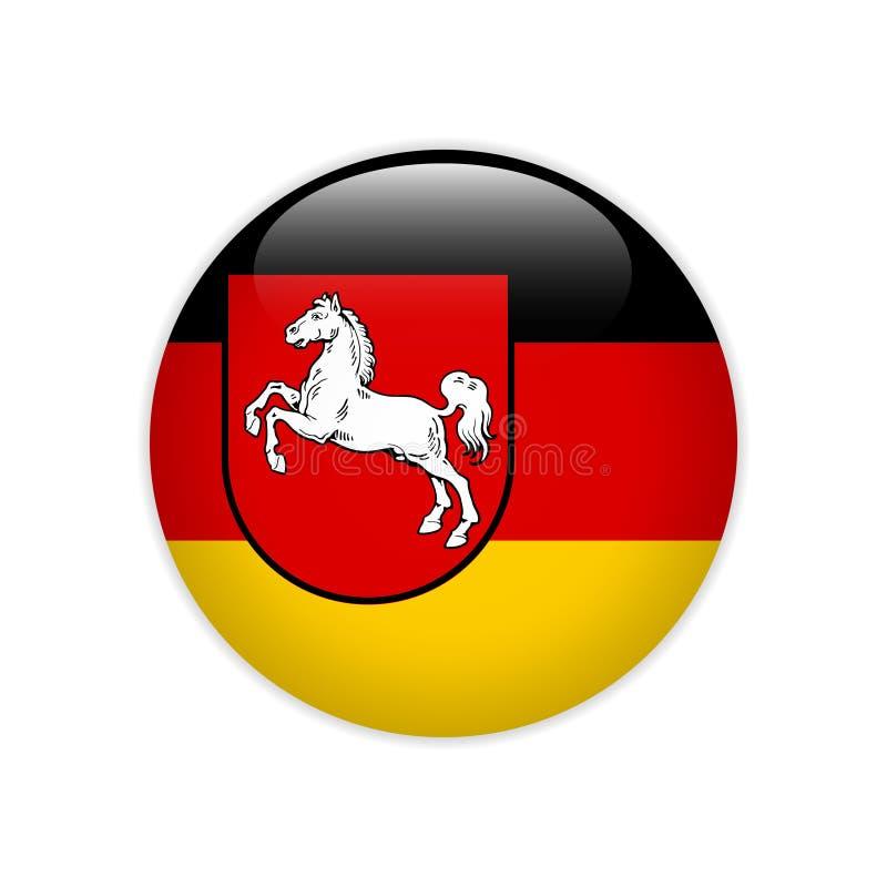 Flaggen-Niedersachsen-Knopf vektor abbildung
