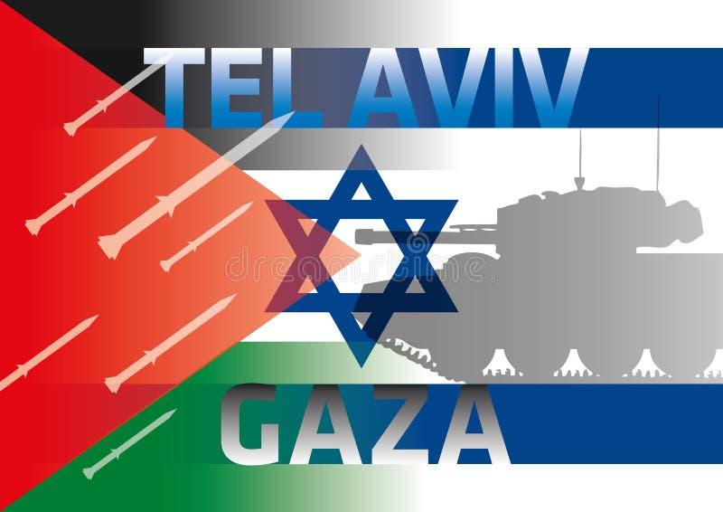 Flaggen Palästinas Israel lizenzfreie abbildung
