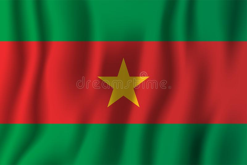 Flaggen-Vektorillustration Burkina Faso s realistische wellenartig bewegende eingebürgert stock abbildung