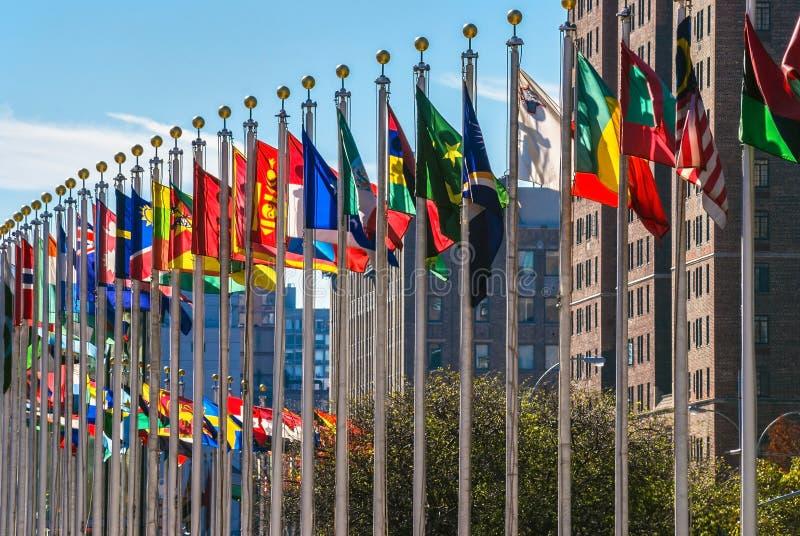 Flaggen von Nationen stockbilder