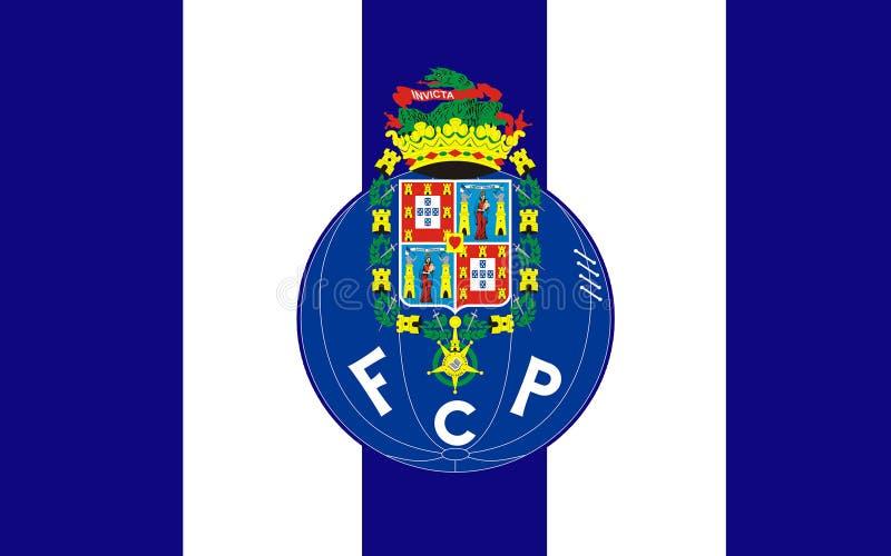Flaggenfußballclub Porto, Portugal lizenzfreie abbildung