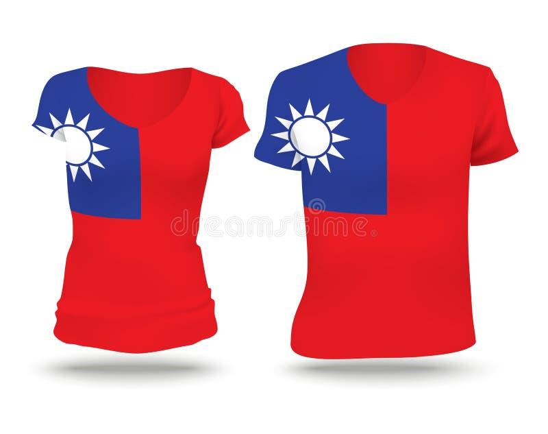 Flaggenhemdentwurf von Taiwan stock abbildung