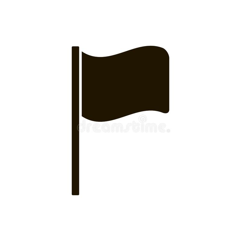Flaggenikone vektor abbildung