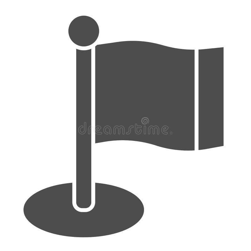 Flaggenk?rperikone Fahnenmastvektorillustration lokalisiert auf Wei? Zeiger Glyph-Artdesign, bestimmt f?r Netz und APP stock abbildung
