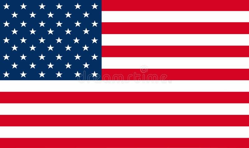 Flaggenvektor Staaten von Amerika Illustration von amerikanischem nationalem lizenzfreie abbildung