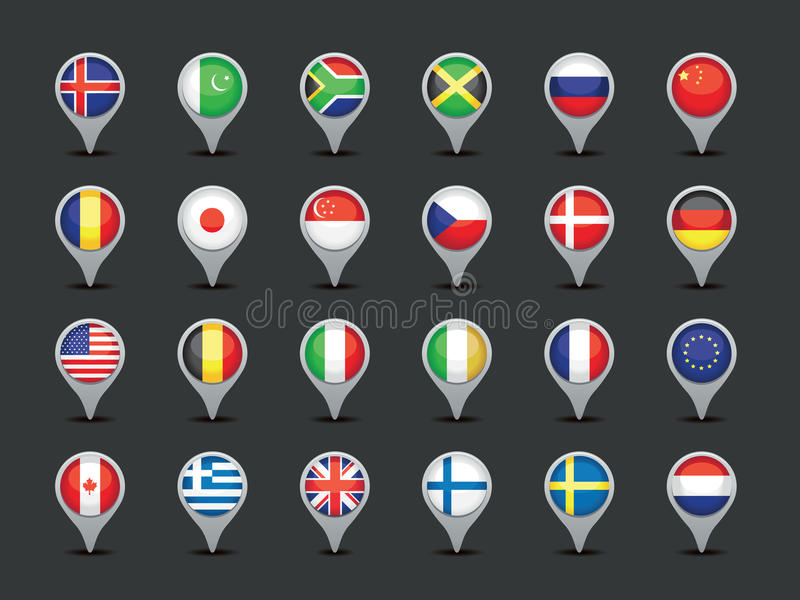 Flaggenzeiger stock abbildung