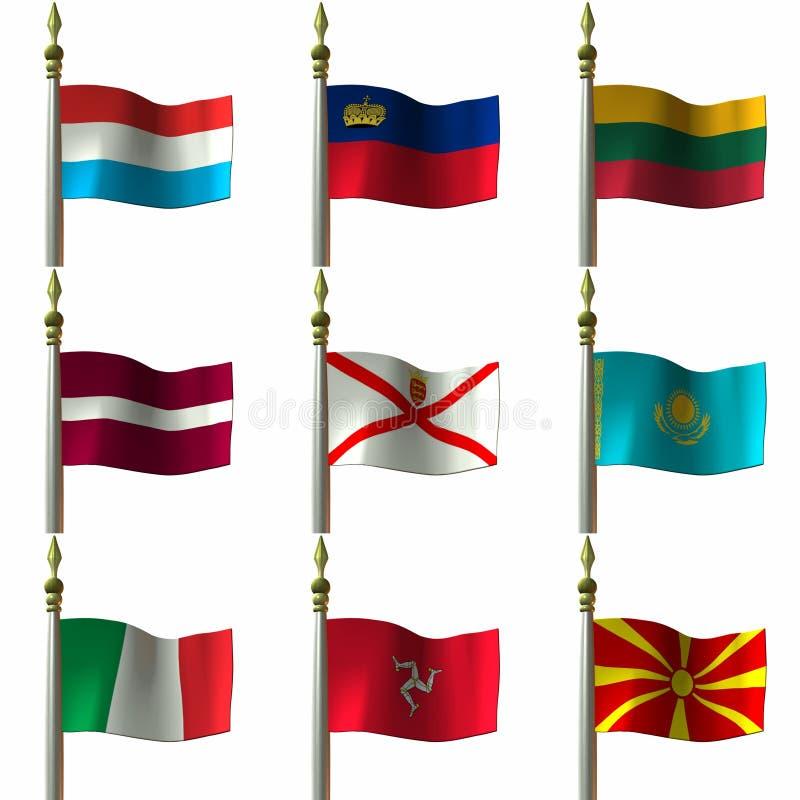 flaggor vektor illustrationer
