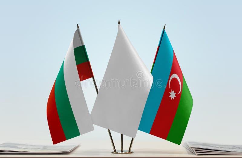 Flaggor av Bulgarien och Azerbajdzjan royaltyfria foton