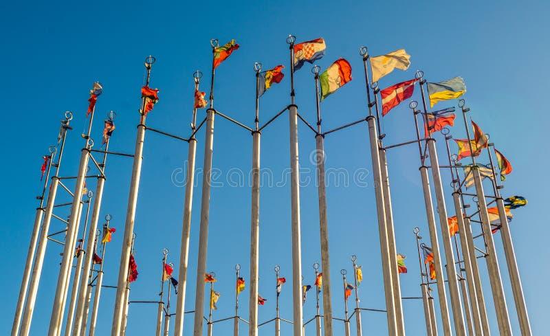 Flaggor av europeiska länder royaltyfri bild