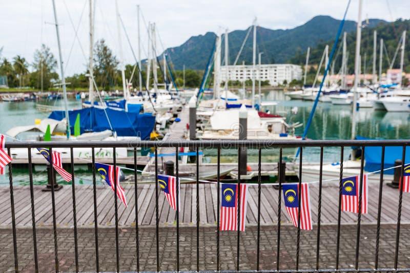 Flaggor av Malaysia fotografering för bildbyråer