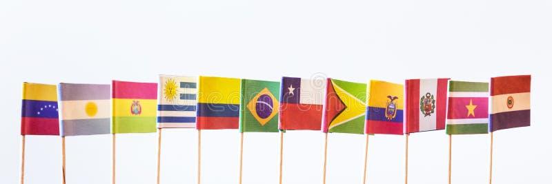 Flaggor av unasur arkivbilder