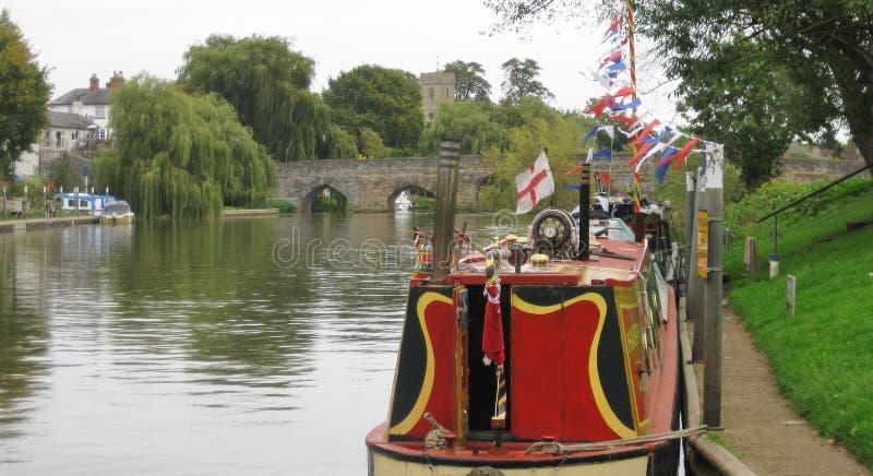 Flaggor för kanalfartyg arkivbilder