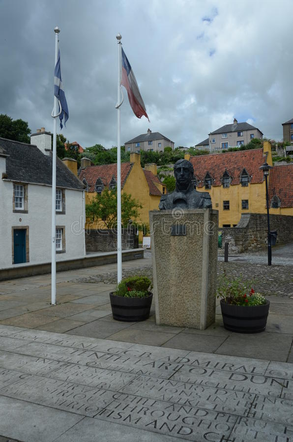 Flaggor, staty och slott royaltyfri bild