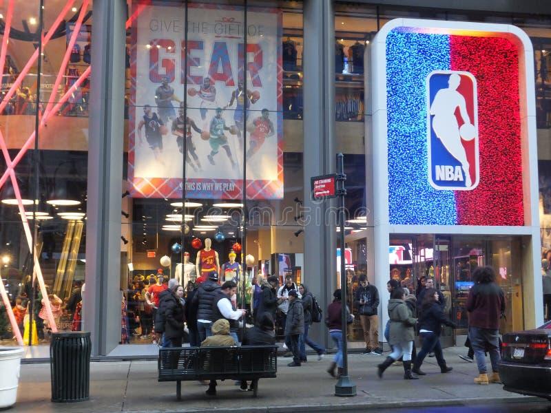 Flaggskepplager för NBA New York arkivbilder