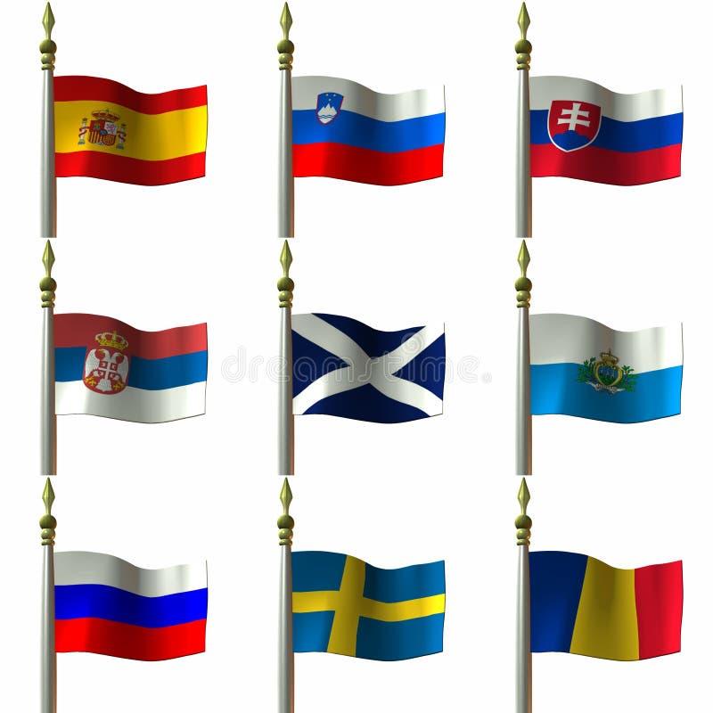 flagi royalty ilustracja