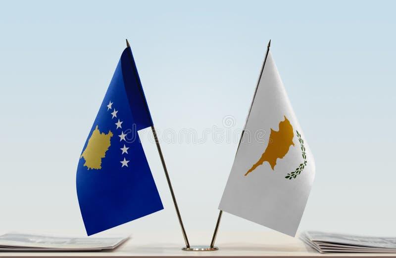 Flagi Kosowo i Cypr fotografia stock