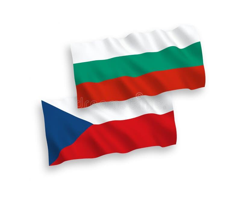 Flagi republika czech i Bułgaria na białym tle royalty ilustracja