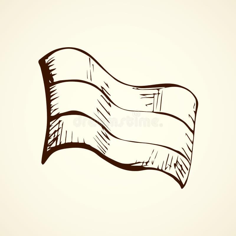 flagi rysuje tła trawy kwiecistego wektora royalty ilustracja