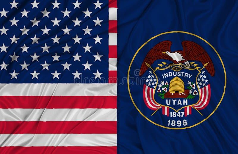 Flagi Utah royalty ilustracja