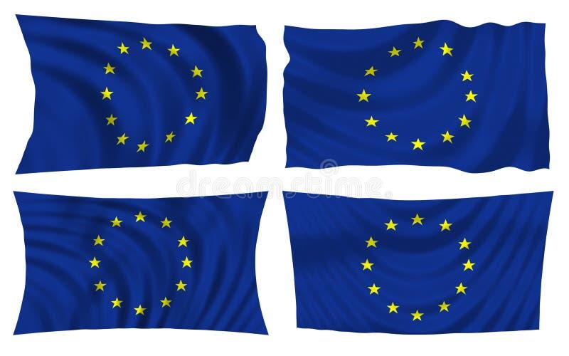flagi wspólnoty europejskiej ilustracja wektor