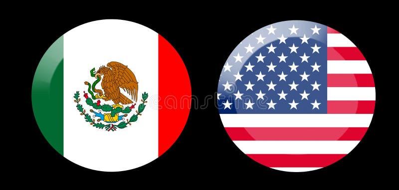 Flagi z krajów powiązaniami zdjęcia royalty free