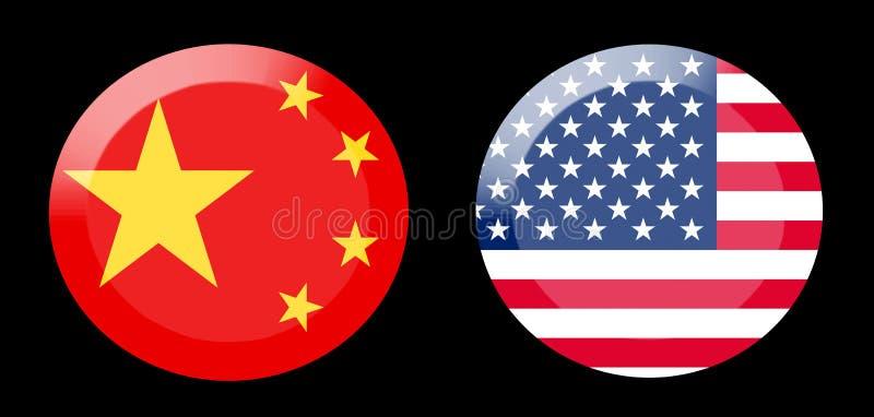 Flagi z krajów powiązaniami fotografia royalty free