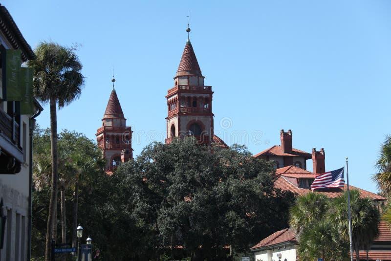 Flagler学院在圣奥斯丁佛罗里达 图库摄影