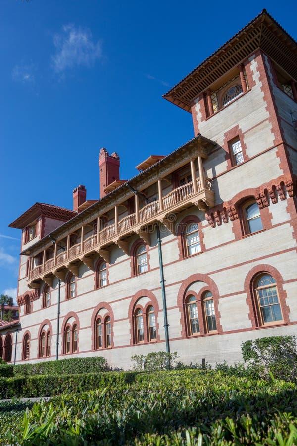 Flagler学院看法在圣奥斯丁,佛罗里达 库存照片
