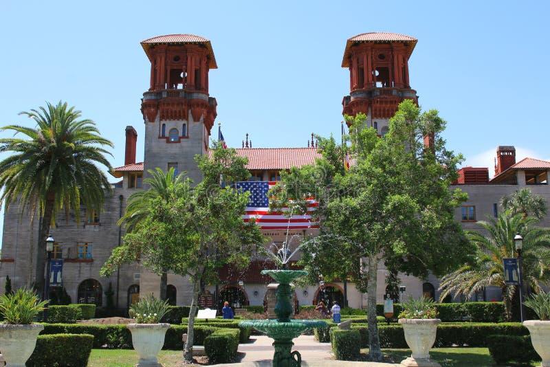 Flagler学院门面在圣奥斯丁 库存图片