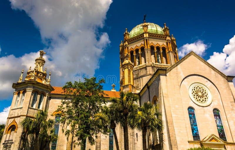 Flagler纪念长老会,在圣奥斯丁,佛罗里达 免版税库存图片