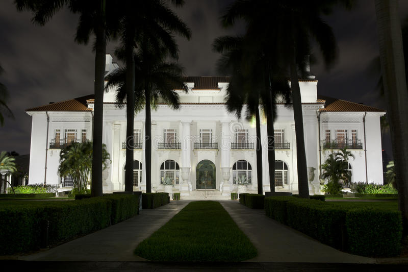 Download Flagler Museum at Night. editorial photo. Image of tourism - 26152571