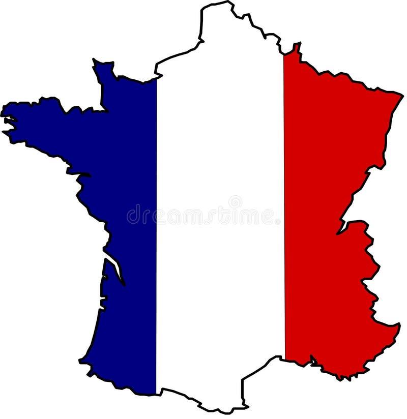Flagmap of france