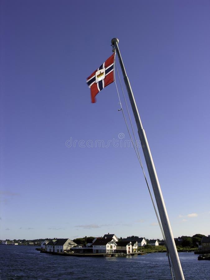 Flagpole de Noruega foto de stock royalty free