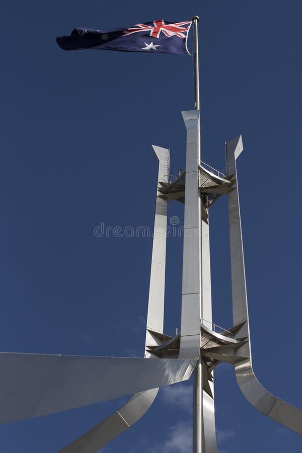 Flagpole, parlamentu dom fotografia royalty free