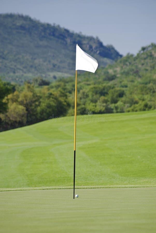 Flagpole, Sfera, Verde & Tratto Navigabile Fotografia Stock