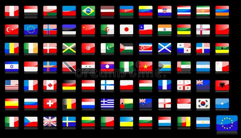 flags иконы национальные иллюстрация штока