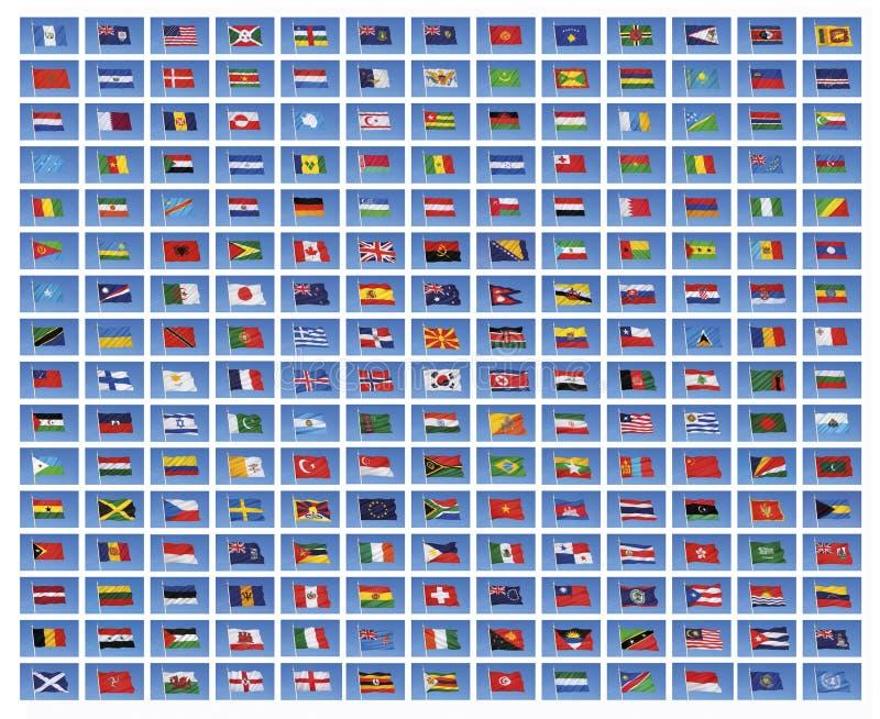 flags национальный мир стоковое изображение rf