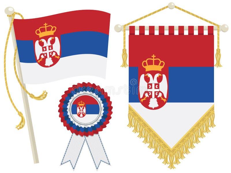 flags Сербия иллюстрация вектора
