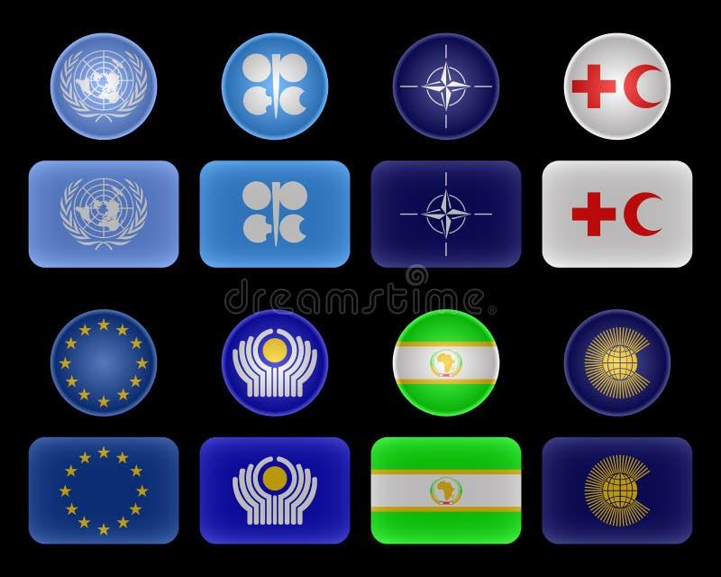 flags соединения организаций иллюстрация штока