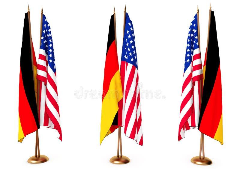 flags соединенное положение Германии бесплатная иллюстрация