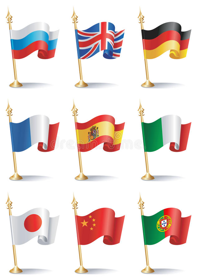Download Flags stock vector. Image of nine, icon, china, portugal - 10988591