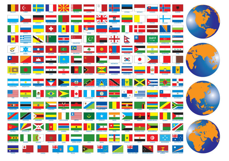 Flags. Of the countries. Illustration for you design vector illustration