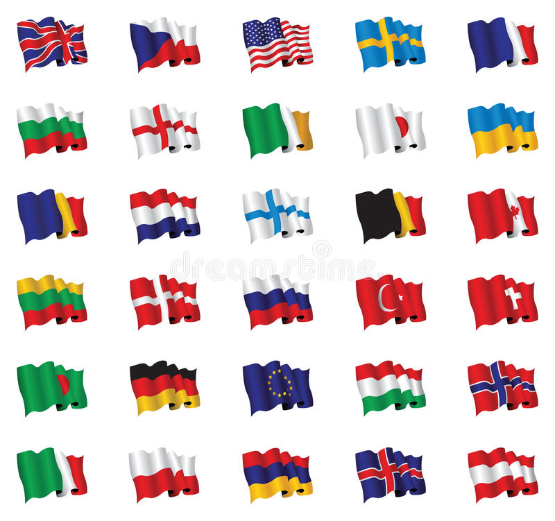 Download Flags stock vector. Image of czech, dutch, hungary, china - 17693606