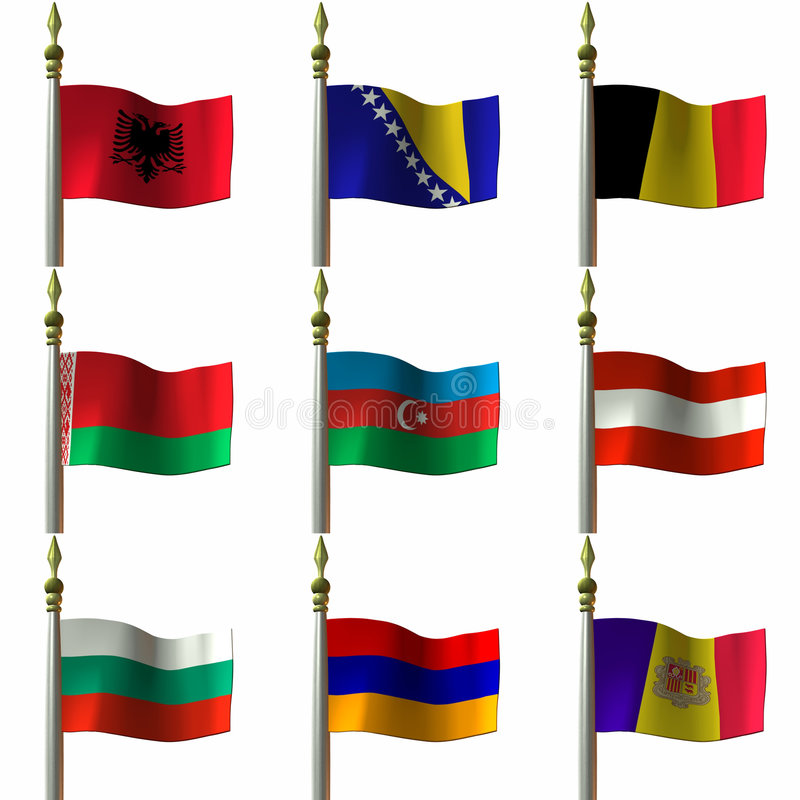 Download Flags stock illustration. Image of digital, europe, continent - 1904755