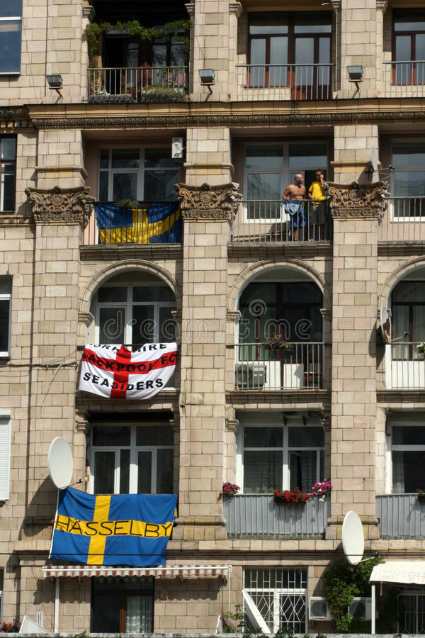 Download Flags editorial photo. Image of kiev, city, gallery, house - 25295761