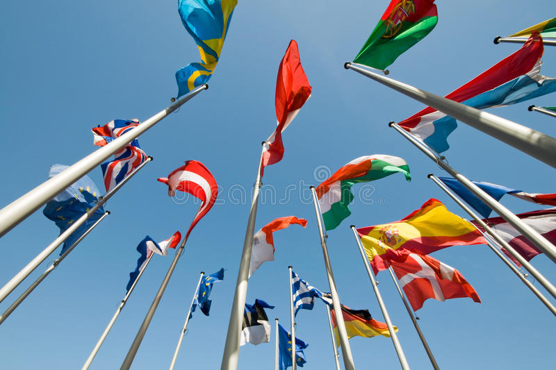 Download Flags stock image. Image of masts, many, russia, global - 25658433