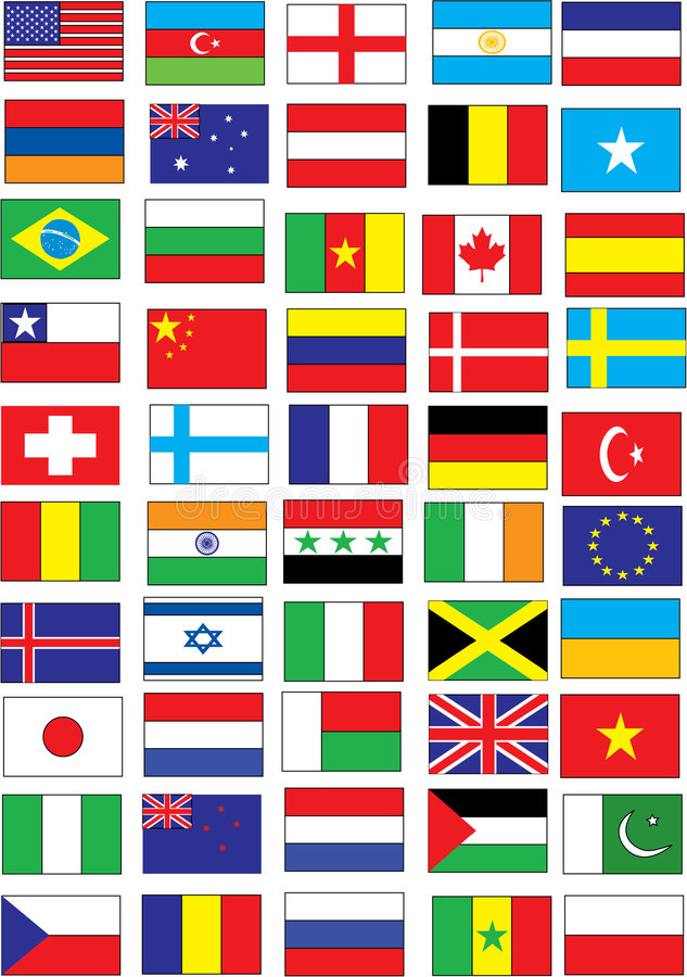 Flags. Diffrent type of flags-Vector illustration vector illustration