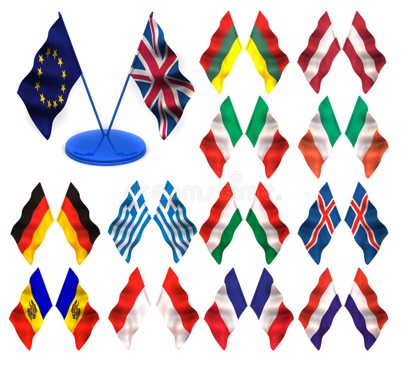 Download Flags. 3d stock illustration. Illustration of contract - 5870427